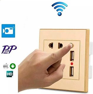 WIFI Wall Socket Room Mini Hidden CCTV Camera 1080P H264 With Motion Detection …