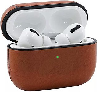 New Apple AirPods Pro Leather Wireless Charging Case Protective Cover Brown