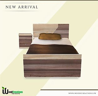 Single Bed With Side Table