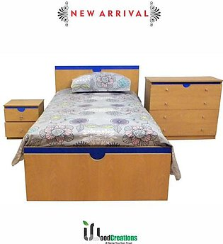 Single Bed with one Side Table & Dresser