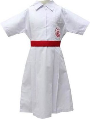 Liberty Uniforms St. Lawrence Girls School Uniform White Plate Frock Half Sle...
