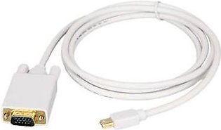 Battery Parcel Thunderbolt Mini Display Port DP to VGA Cable-White