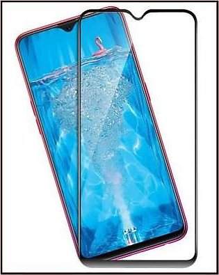 MISC Mobiles OPPO F9 3D Tempered Glass Full Screen Protector-Black