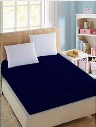 BaggyBeans Baggy Beans Fitted Sheets -Stretch Jersey Fitted Sheet - Navy Blue
