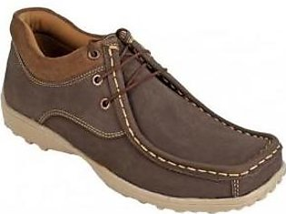 Emotions Brown Leather Lace Up Digger Shoes