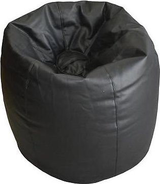 Relaxer Bean Bags Black Plain Leatherite Extra Large Bean Bag - XLRT 01 A
