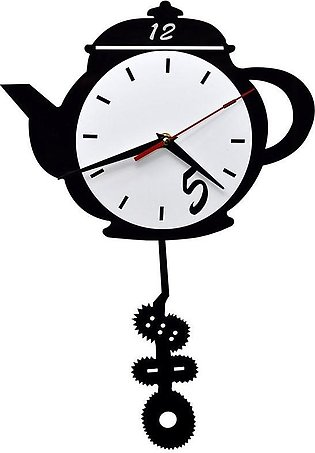 zapple Tea Kettle Shaped Wall Clock