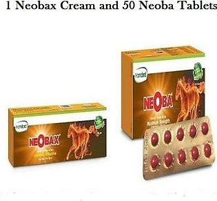 Hamdard Pack Of 2, Neoba 50 Tab + Neobax Cream