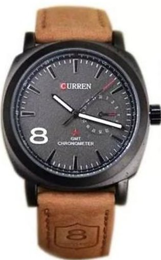 CURREN  Pack of 10 Brown Leather Analog Watch