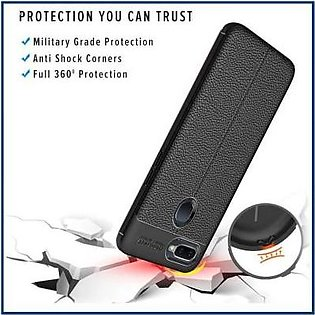 MISC Mobiles Oppo F9 Shockproof Autofocus Flexible Leather Texture Stitch Case …