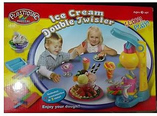 M Toys Sports & Stationers Dough Ice-cream Modelling Machine with Colourful D...