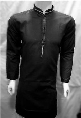 HyperZone Black Designer Kurta For Men