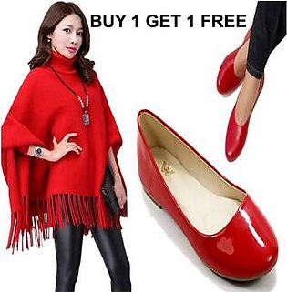 AL-KAREEM RED PONCHO DEAL OFFER