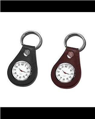 Tool Shop Personal Leather Key chain with Clock
