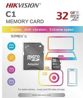 Hikvision Hikvision 32GB C1 Series Micro SD (TF) Card