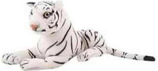 Asaan Bachpan High Quality Stuffed Tiger - White - 60 Centimeter