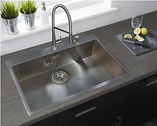 STEELINE Filoquadra Mix 77x50 1V Stainless Steel Kitchen Sink (Made In Italy)