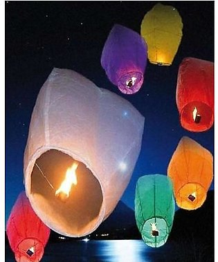 Alshops pk Pack of 10 Flying Sky Lanterns for Marriages and Events