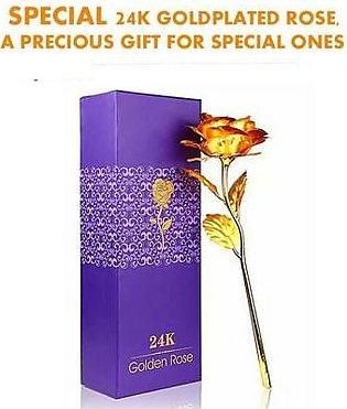 HOMEnMORE 24K Gold Plated Rose & 24K Gold Test Report In Gift Box