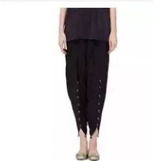 Net World Viscose Tulip Shalwar For Women - Black