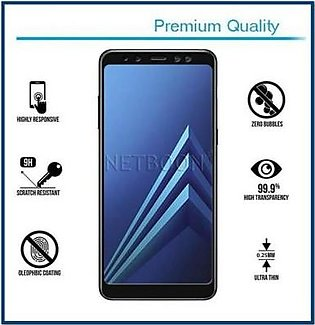 MISC Mobiles OPPO A7 3D Tempered Glass Screen Protector Full Cover-Black