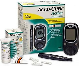 ACCU-CHEK Accu Chek Active Gluco Meter With 10 Strips Free