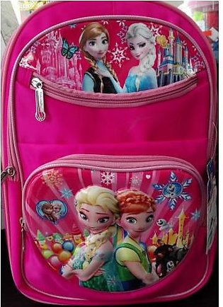M Toys Sports & Stationers Anna and Elsa  3D-Cartoon Character School Bag for...