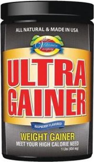 The Vitamin Company Ultra Gainer - 1 Lbs (454 mg) RASPBERRY FLAVOR