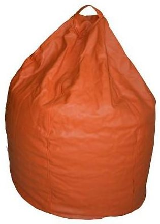 Relaxer Bean Bags Orange Plain Leatherite Extra Large Bean Bag - XLRT 03 A
