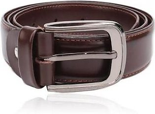 House of Leather Brown Leather Belt For Men