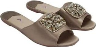 Metro Metro Shoes and Bags Fancy Slippers For Women SD-3735 Beige