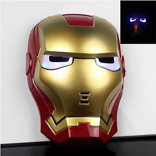 Rubian Super Hero Iron Man Toy Mask Led light Full Face Mask For Kids