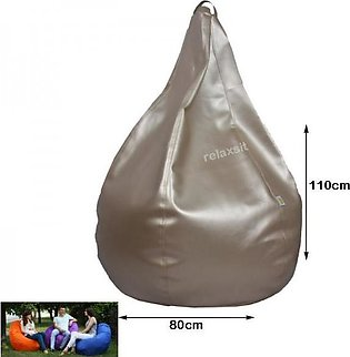 Relaxsit Puffy Leather Bean Bag Home Decor Chair Bean Bag Leather Bean Bag - ...