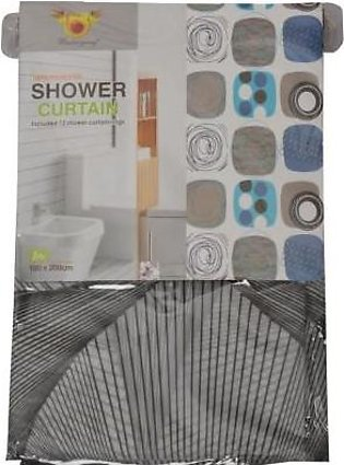 Relaxsit Bathroom Accessories Short Shower Curtains Waterproof Bathroom Curtain…