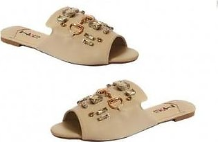 Metro Metro Shoes and Bags Stylish Flat Slippers For Women SD-1776 Beige