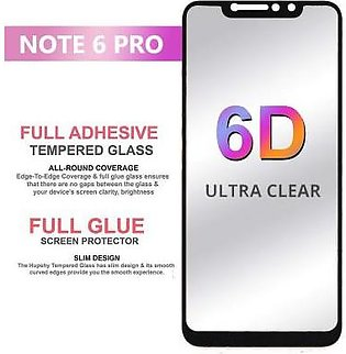 WDM Mobiles 6D Full Glue Glass Screen Protector Edge To Edge For Xiaomi Redmi...