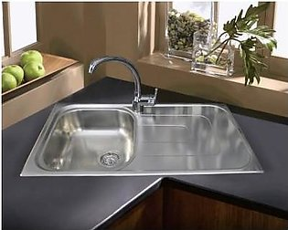 STEELINE Pizzica 86x50 1V Stainless Steel Kitchen Sink (Made In Italy)