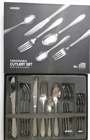 Miniso Miniso Simple Fashionable Cutlery Set 16 Pieces
