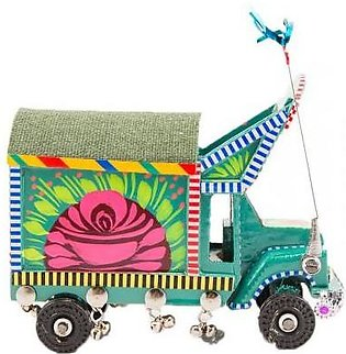 Fashion Cafe 6x3x3''-Hand-Painted Floral Design Classic Truck Decoration Piece