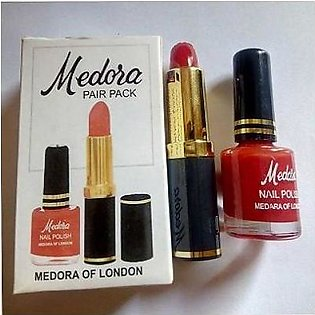 Medora Lipsticks pack of 2- Medora Red lipstick & FREE Peel Off Nail Polish