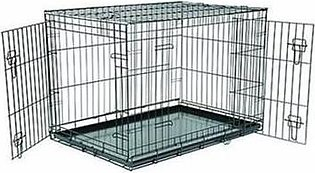 Royal Pets Metal Cage With Metal Tray For Dog-Training Carrier