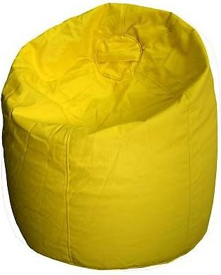 Relaxer Bean Bags Yellow Plain Leatherite Extra Large Bean Bag - XLRT 07 A