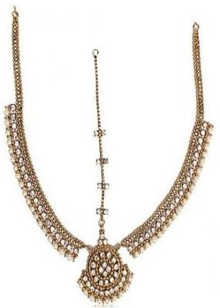 Onlinejewellery ANTIQUE PEARL MATHA PATTI FOR WOMEN