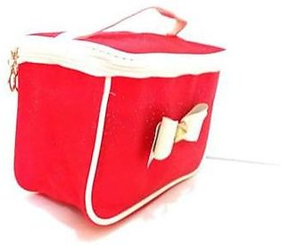 FISH Red leather makeup box
