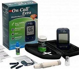Acon USA On Call Extra Glucometer For Easy Blood Sugar Check With 10 Test Strips