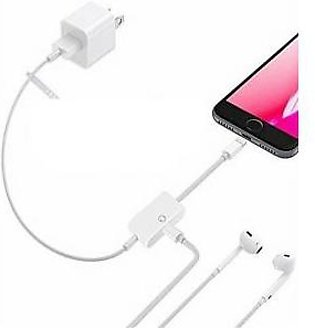 Apple iPhone 8 Plus Charging & Data Cable with Lightning Headset Jack