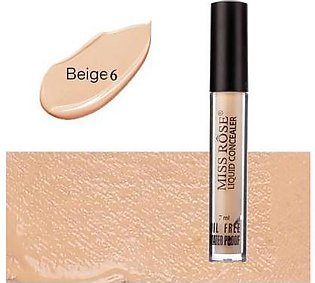 The AZY Miss Rose Liquid Concealer Oil Free & Water Proof  For Girls - Beige 6