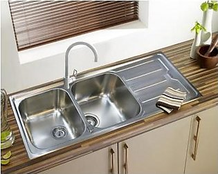 STEELINE Cristal 116x50 2V Stainless Steel Kitchen Sink (Made In Italy)