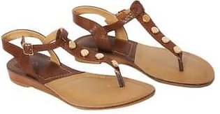 Metro Metro Shoes and Bags Fancy Slippers For Women SD-12815 Brown