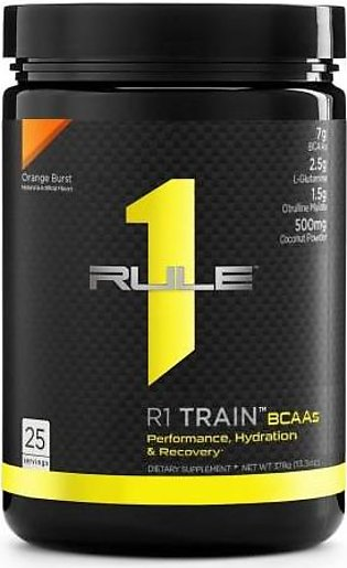 Rule 1 Protein R1 Train BCAAs - Orange Burst 25 Servings Intra Workout Drink